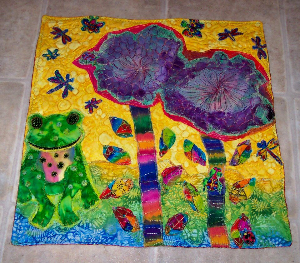 Annies boob quilt for autism charity - My garden of Earthly Delights